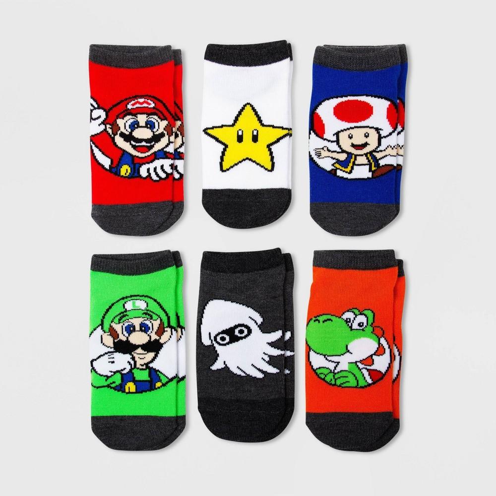 Image of Kids' Super Mario Socks - M/L, Kids Unisex, Size: Medium/Large, MultiColored