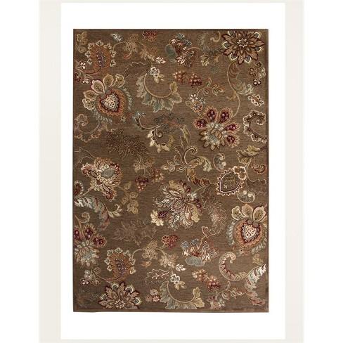 Abacasa Napa Fulton Brown-Tan-Ivory-Burgundy 8x11 Area Rug - Sam's International - image 1 of 3