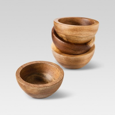 Set of 4 Natural Acacia Dip Bowls - Threshold™