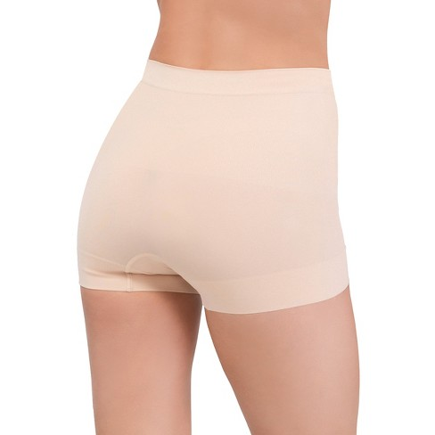 4358a1ee7e Assets® By Spanx® Women s All Around Smoothers Seamless Shaping Girl Shorts  - Beige Nude M   Target