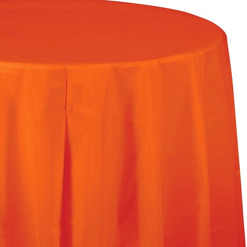 Sunkissed Orange Disposable Tablecloth - image 1 of 3
