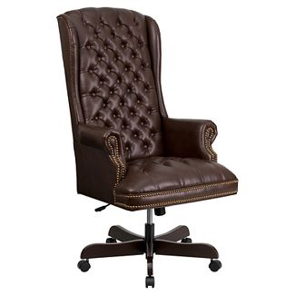 Executive Swivel Office Chair Brown - Flash Furniture