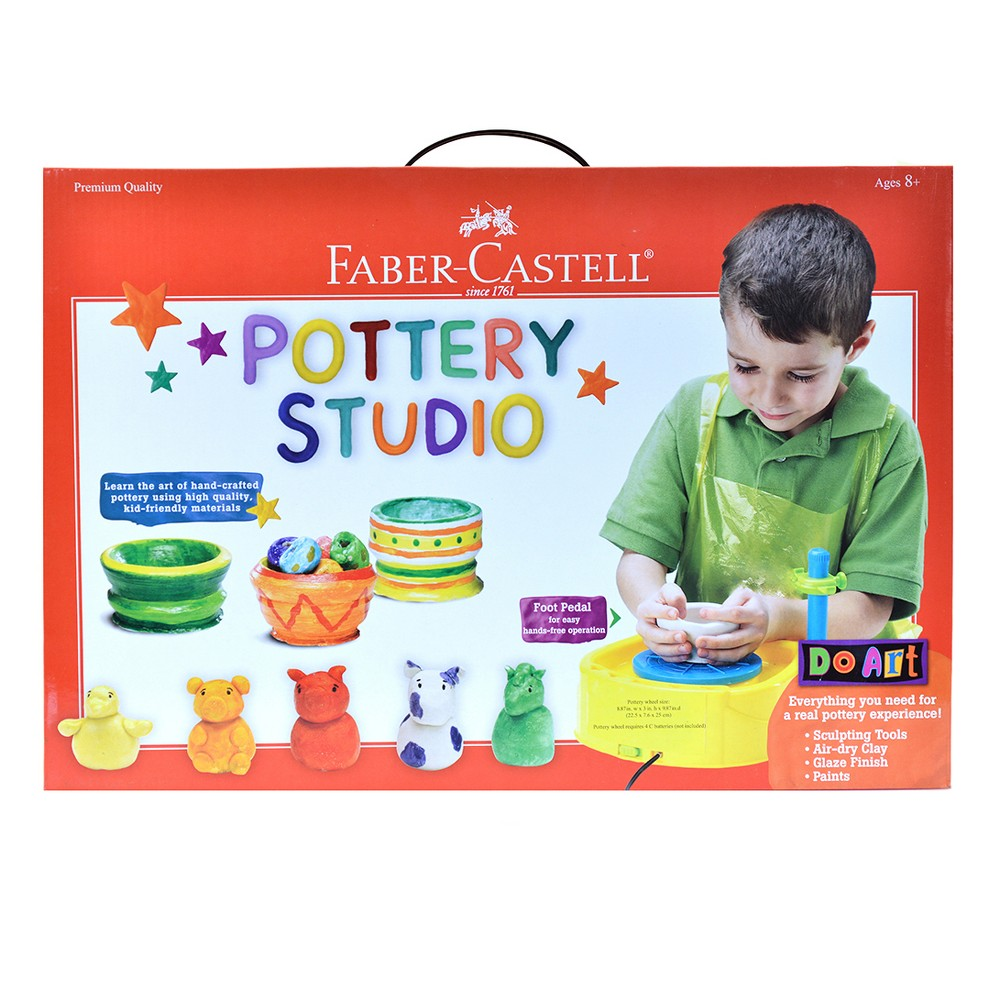 Low Price Do Art Pottery Wheel Kit Faber Castell Yellow