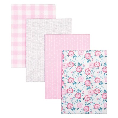 Trend Lab Flannel Receiving Blankets - Floral 4pk