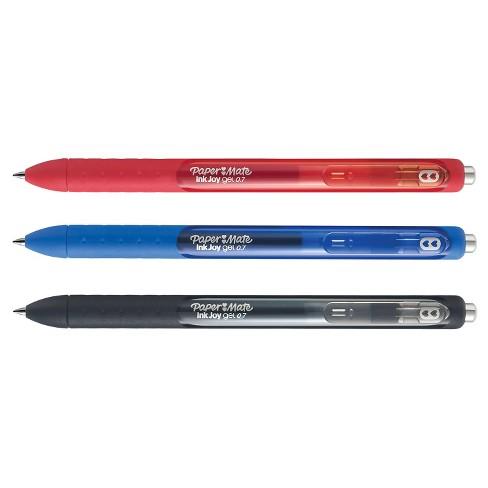 paper mate inkjoy gel pens 0 7mm 3ct multicolor ink target