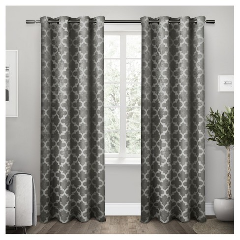 Cartago Insulated Woven Blackout Grommet Top Window Curtain Panel Pair - Exclusive Home™ - image 1 of 3