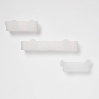 Corner Basket with Power Lock Lever Suction White - Room Essentials™