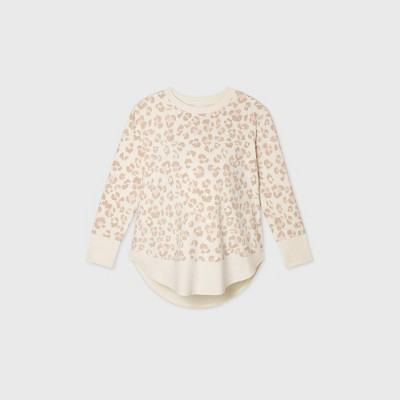 Maternity Leopard Print Sweatshirt - Isabel Maternity by Ingrid & Isabel™ Beige S