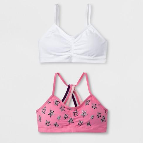 Maidenform Girls' 2pk Seamfree Strappy Ruched Crop Bra - Pink - image 1 of 1