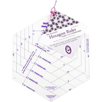 "Marti Michell My Favorite Hexagon Ruler-9-1/2""X8-1/2"""
