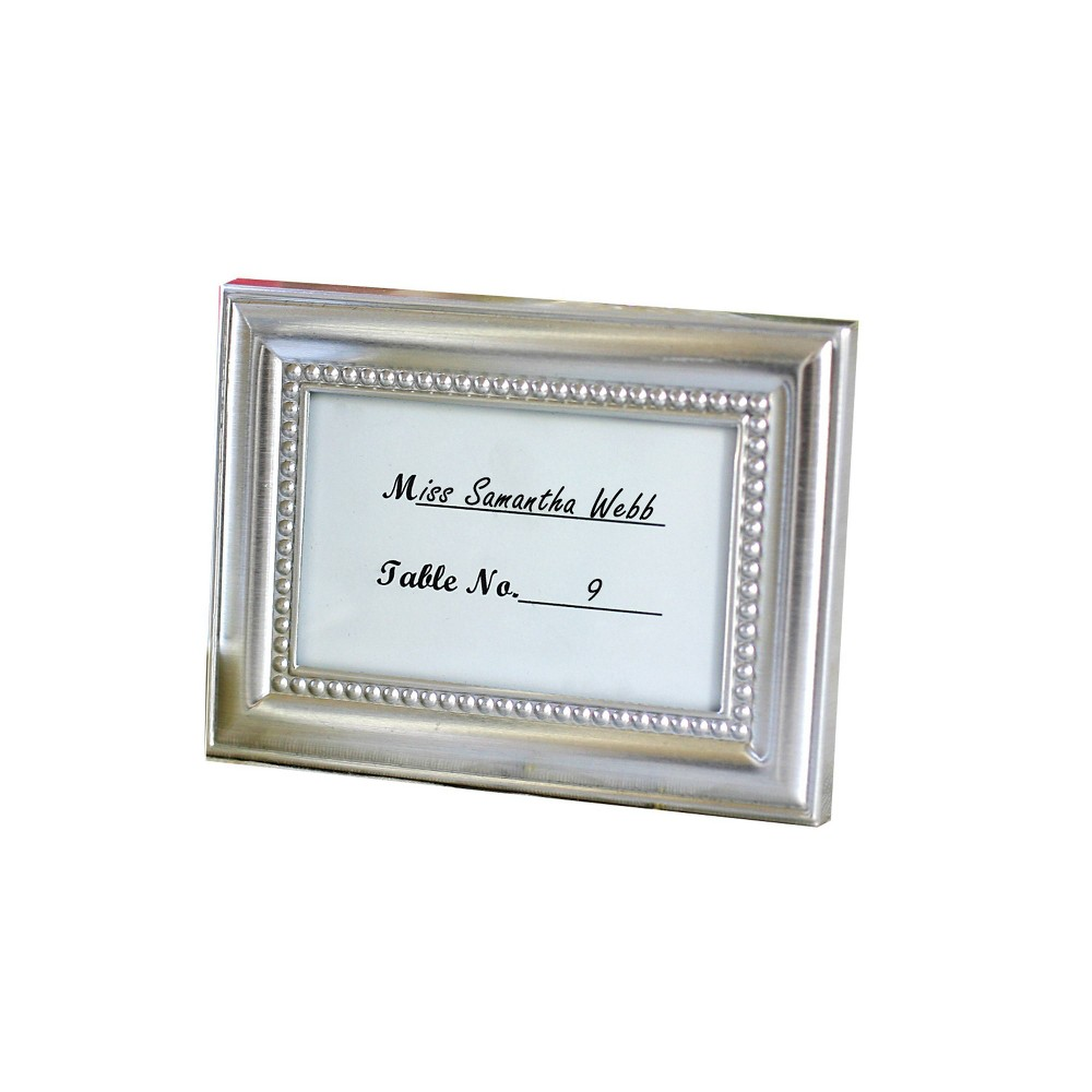 24ct Beautifully Beaded Silver Frame Table Place Holder