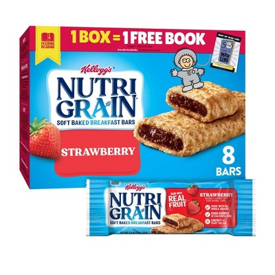 Kellogg's Nutri-Grain Strawberry Soft Baked Cereal Bars - 8ct