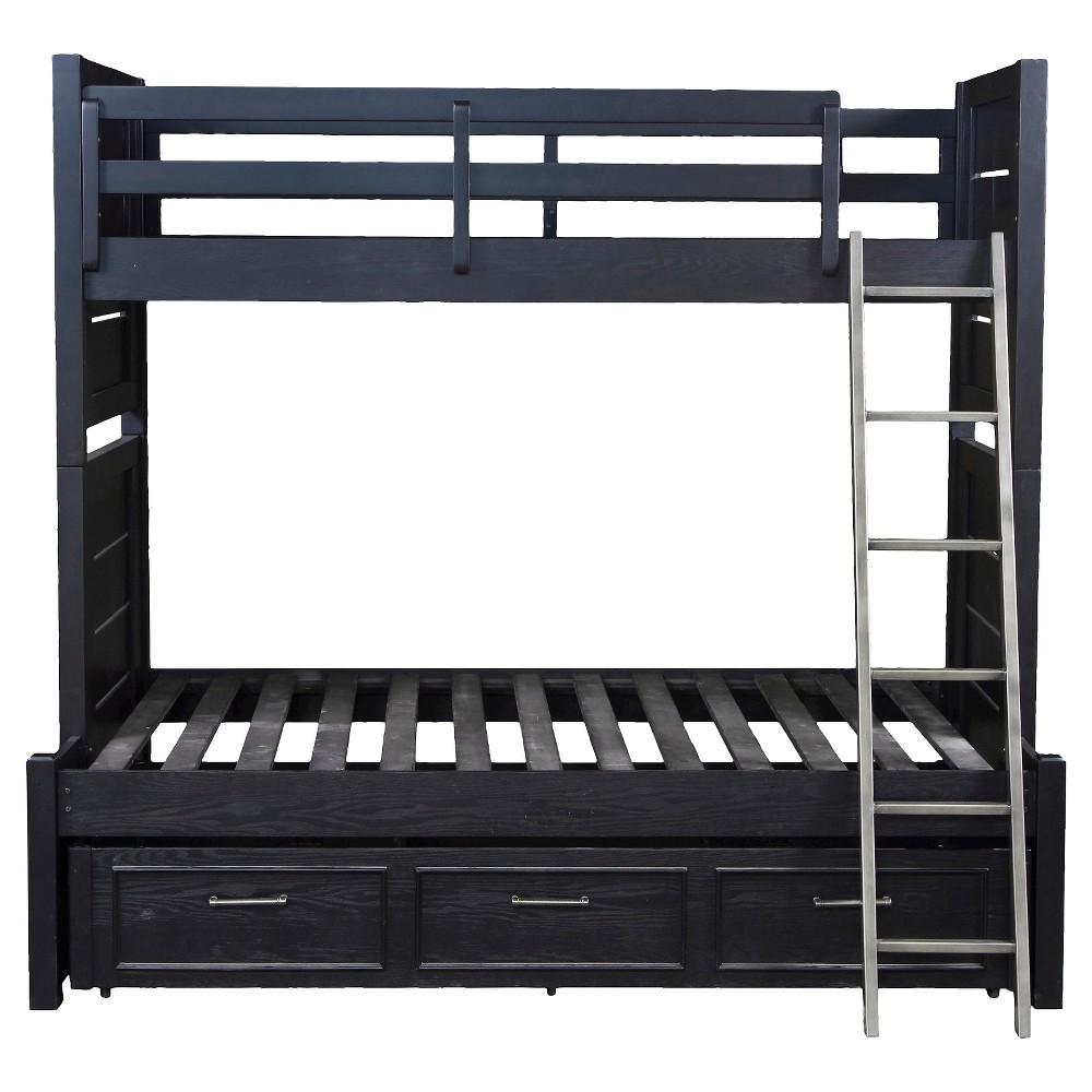 Graphite Collection Bunk Bed Twin Kit (ends, rails, ladder) - Pulaski