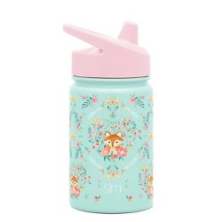 Simple Modern 10oz Stainless Steel Fox and Flowers Summit Water Bottle with Sippy Lid