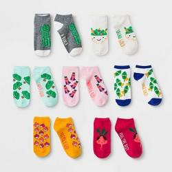 Girls' 7pk Super Foods No Show Socks - Cat & Jack™ Mint