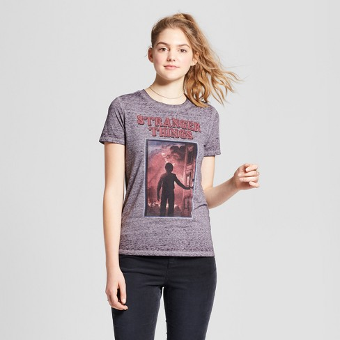 abd86b67 Women's Stranger Things® Short Sleeve Logo Graphic T-Shirt (Juniors') -  Dark Gray