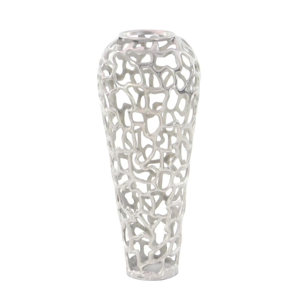Image of Ornate Vase - Silver - Olivia & May
