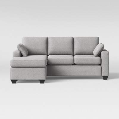 Genial Barnstable Pillow Arm Transitional Reversible Chaise Sofa Gray   Threshold™