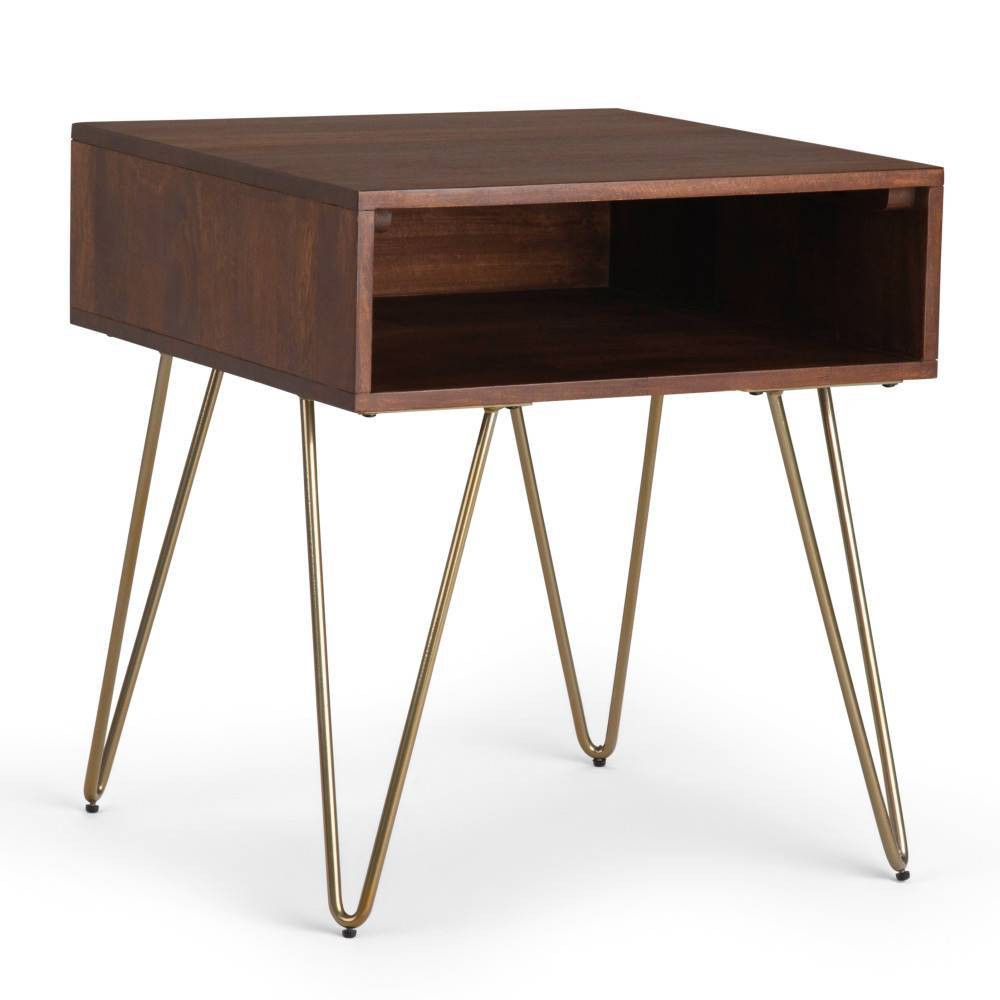 """Image of """"22"""""""" Moreno End Table Umber Brown Stain - Wyndenhall, Brown Brown Stain"""""""