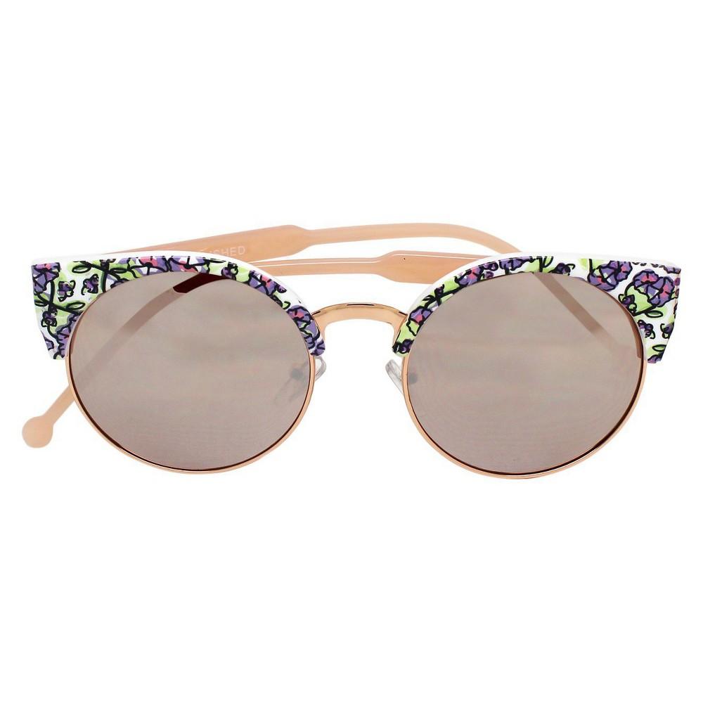 Women's Clubmaster Sunglasses - Rosegold, Multi-Colored