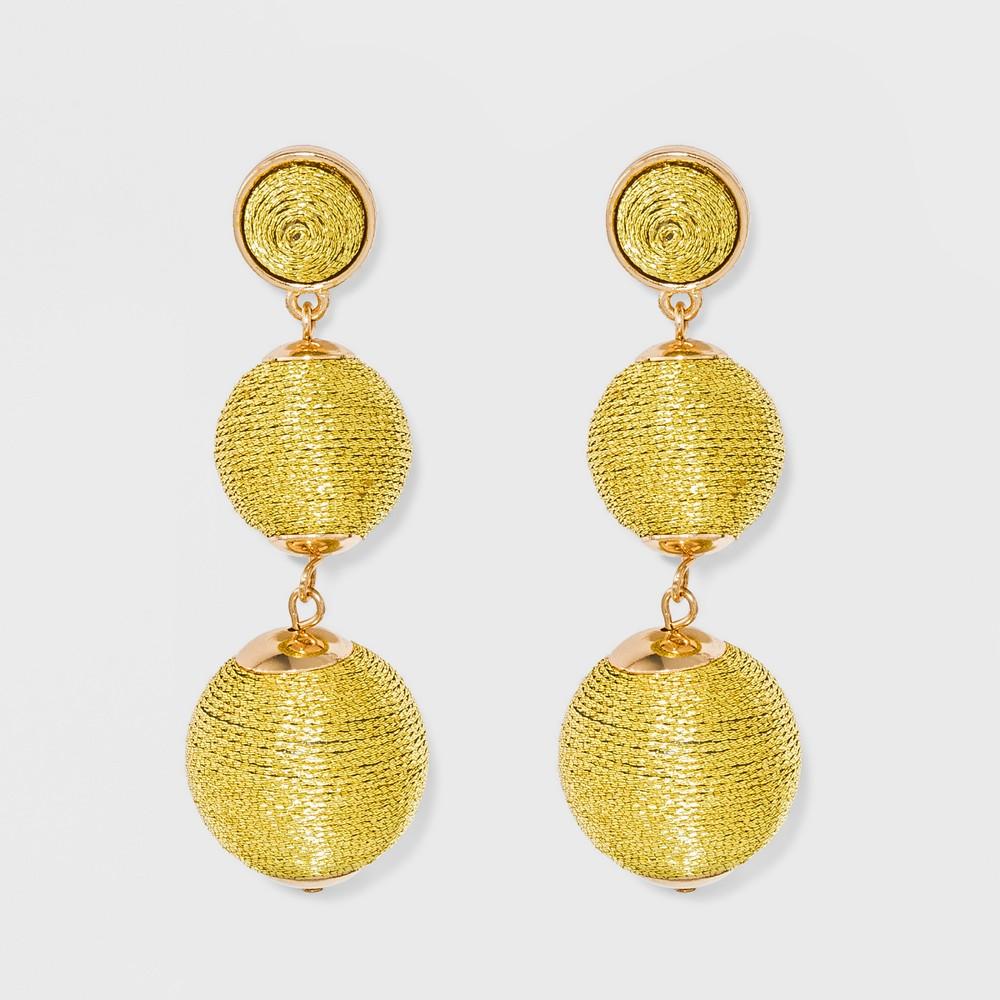 Sugarfix by BaubleBar Ball Drop Earrings - Gold, Girl's