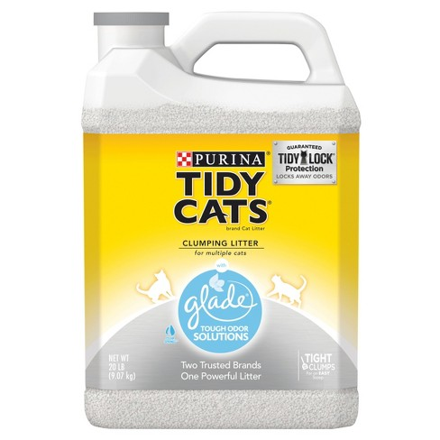 Purina Tidy Cats Clumping Cat Litter with Glade Tough Odor Solutions for Multiple Cats - 20lb. Jug - image 1 of 3