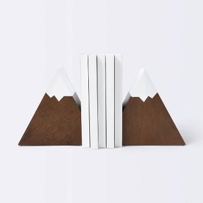 Mountain Peak Bookends - Cloud Island™ Brown