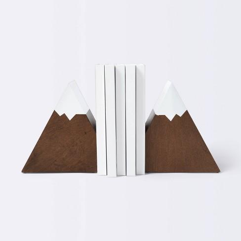 Mountain Peak Bookends - Cloud Island™ Brown - image 1 of 3