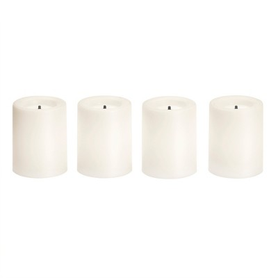 1.9  x 3  4pk Unscented LED Votive Candle Set White - Made By Design™