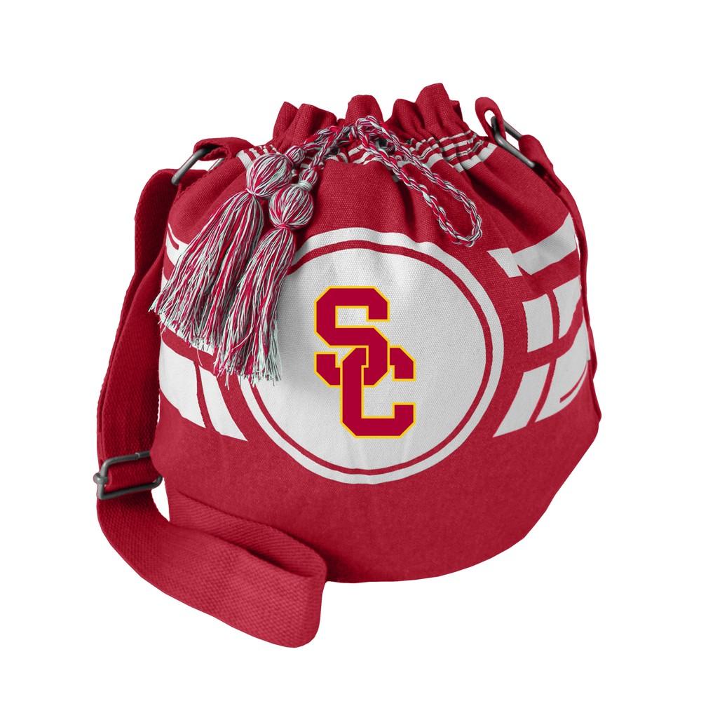NCAA Usc Trojans Little Earth Ripple Drawstring Bucket Bag, Adult Unisex