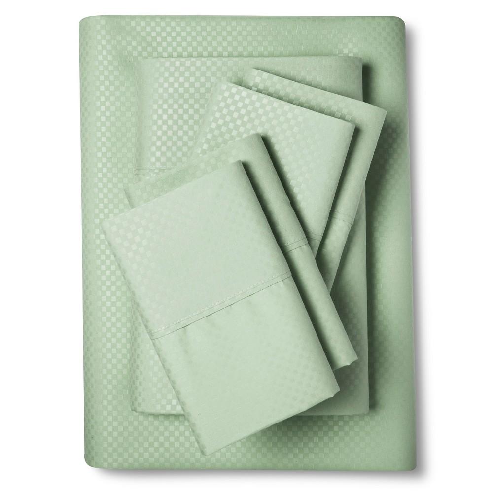 Image of Christopher Knight Home Natalia Cavalletto Check Design Sheet Set - Pistachio (Green) (King)