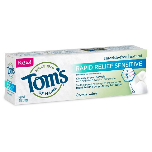 Tom's of Maine® Rapid Relief Sensitive Mint Natural Toothpaste - 4oz - image 1 of 1