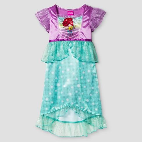 8a68a2fa2e Toddler Girls  Little Mermaid Ariel Short Sleeve Nightgown Purple 4T    Target