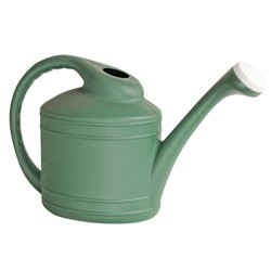 Southern Patio Large 2 Gallon Plastic Rainfall Garden Plant Watering Can, Green