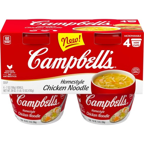 Campbell's Chicken Noodle Soup - 4pk/7oz cans - image 1 of 4