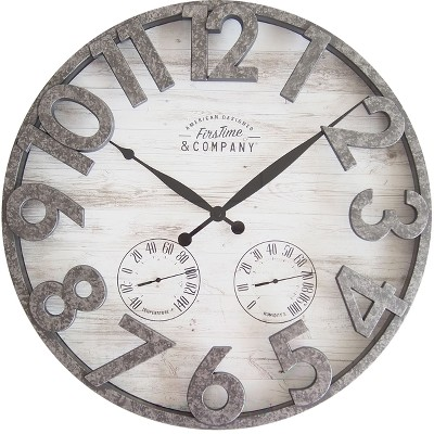 FirsTime 18  Shiplap Outdoor Wall Clock Aluminium