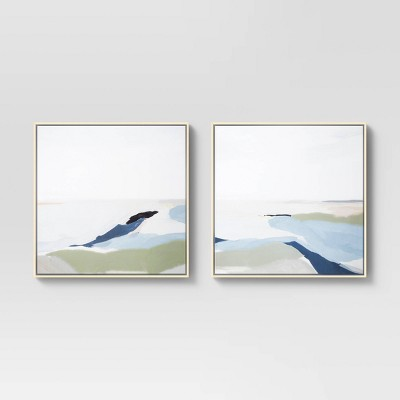"(Set of 2)24"" x 24"" Perfect Land Framed Printed Canvas - Project 62™"