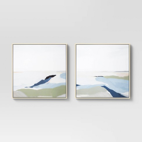 """(Set of 2) 24"""" x 24"""" Perfect Land Framed Printed Canvas - Project 62™ - image 1 of 4"""