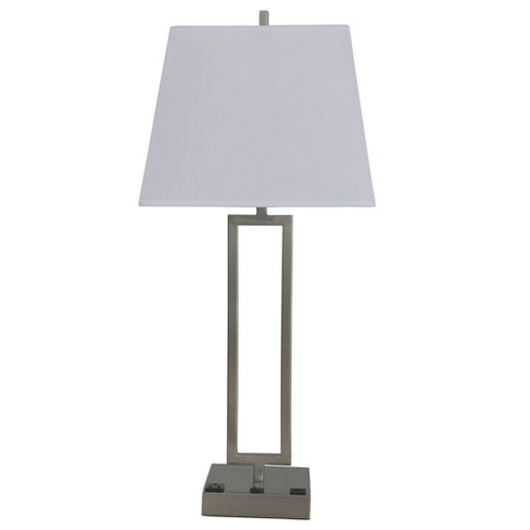 Outlet Friendly 1 Port 1 Metal Lamps And Steel Table Fangio USB Light with Lighting Tech FTc3JlK1