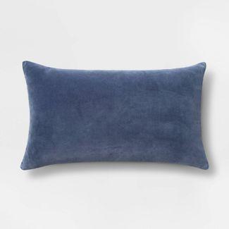 Velvet Lumbar Pillow Blue - Threshold™