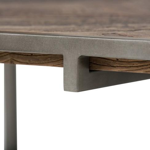 Avery Coffee Table Distressed Java Brown Wood Inlay Simpli Home Target