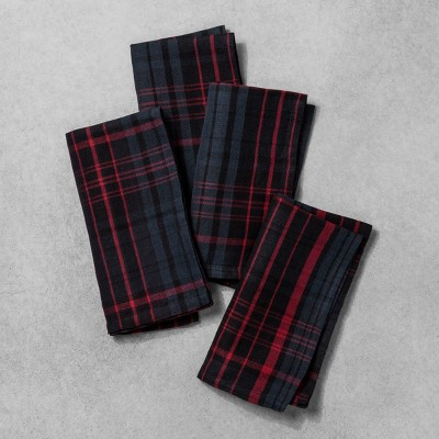 Napkin Set of 4 Plaid - Red/Blue - Hearth & Hand™ with Magnolia
