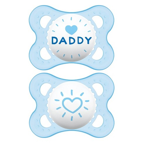 MAM Love & Affection Pacifier 0-6 Months - 2ct Blue - image 1 of 4