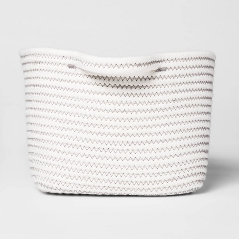 Bath Basket Small Crate Off White - Threshold™ - image 1 of 4