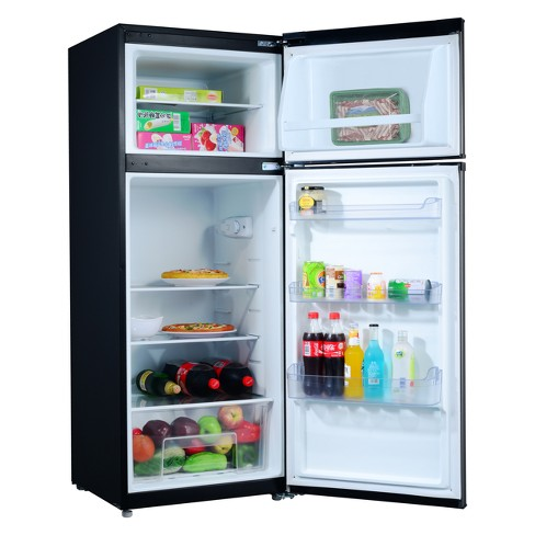 Galanz 7 6 Cu Ft Compact Refrigerator Stainless Steel Gl76s1e