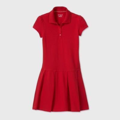 Girls' Short Sleeve Pleated Uniform Tennis Dress - Cat & Jack™ Red