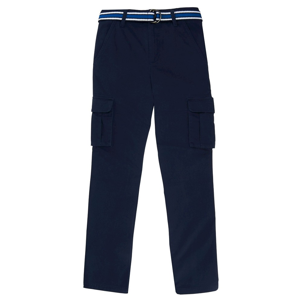 French Toast Boys' Uniform Cargo Pants - Navy (Blue) 10