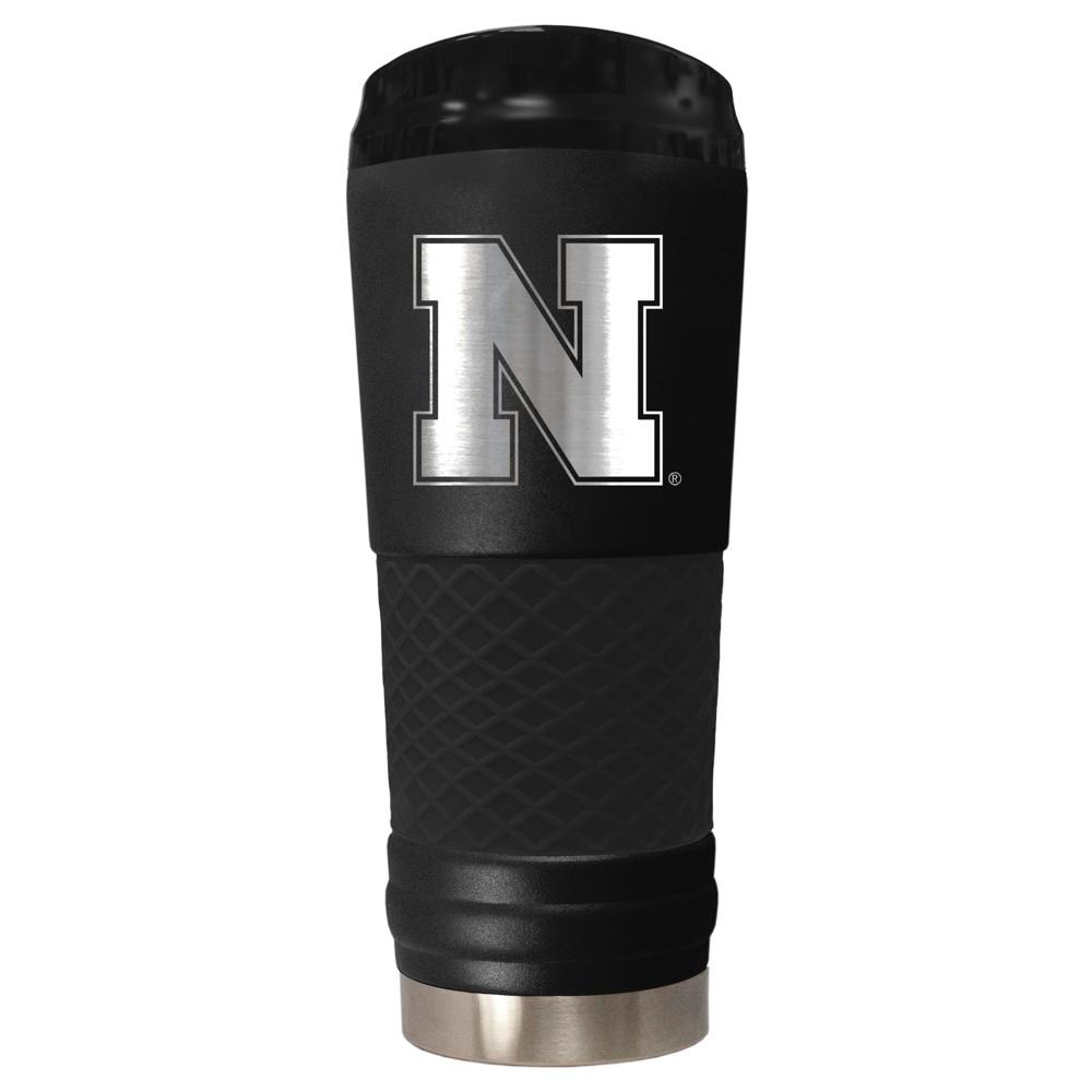 NCAA Nebraska Cornhuskers 18oz Matte Black Stealth Stainless Tumbler
