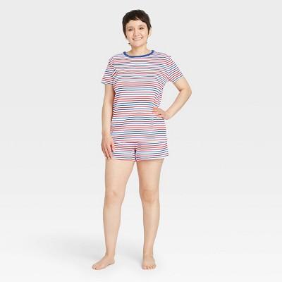 Women's Americana Striped Matching Family Pajama Set - White