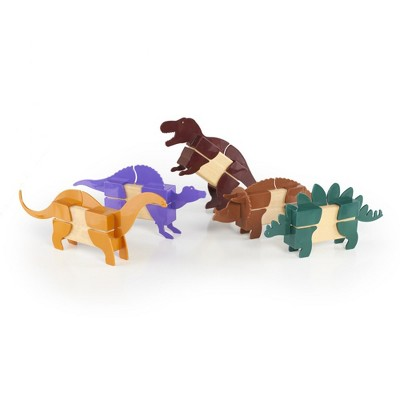 Guidecraft Block Mates Dinosaur Themed Building Kit